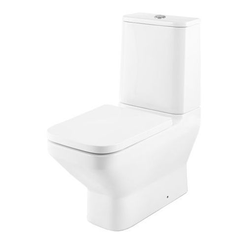 Kompakt WC GoodHome Teesta bezkołnierzowy dolny z deską wolnoopadającą, CT10154RBTW-HB-SS