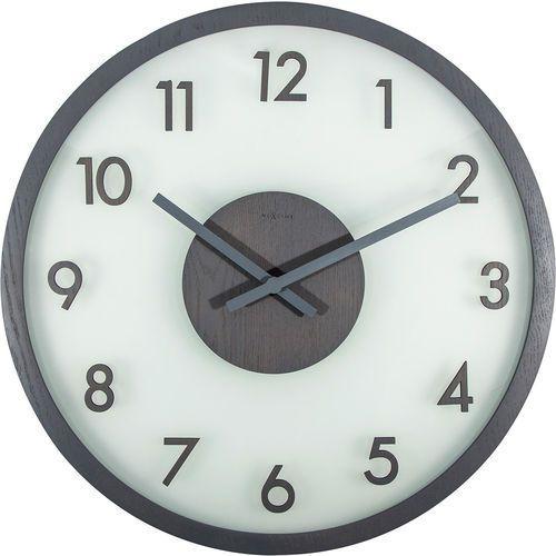 Zegar na ścianę Frosted Wood Nextime szary (3205 GS) (8717713018858)