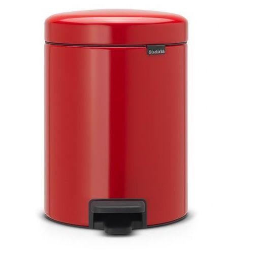 Brabantia Kosz na śmieci 20 litrów stal szlachetna czerwona (8710755111860)