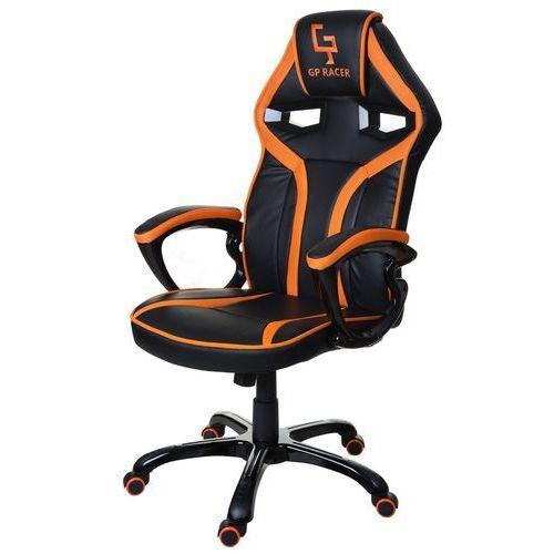 Giosedio Fotel biurowy czarno-pomarańczowy,model gpr049