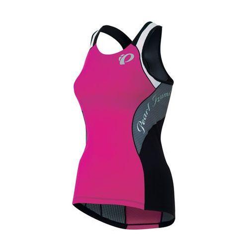 Pearl izumi elite tri - damska koszulka triathlonowa (czarno-różowy)