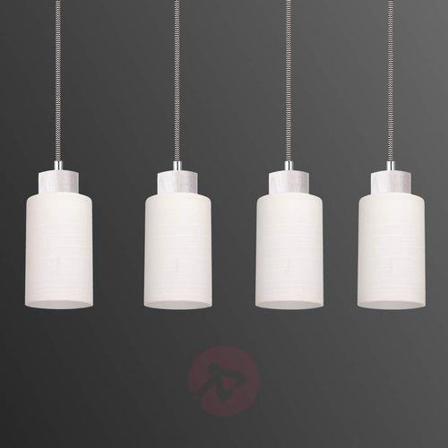 SPOT-LIGHT BOSCO Lampa wisząca Dąb bielony/Czarno-biały 4XE27-60W 1714432 (5901602342817)