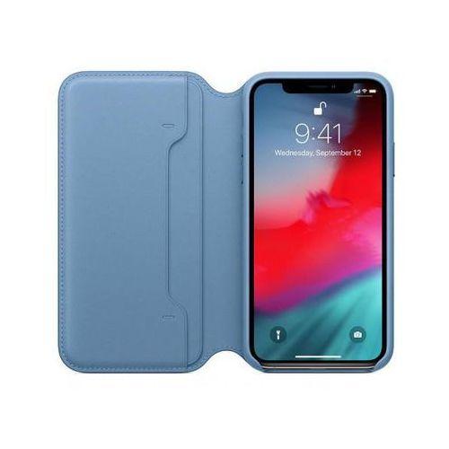 APPLE Leather Folio do iPhone XS, Cape Cod Blue >> BOGATA OFERTA - SZYBKA WYSYŁKA - PROMOCJE - DARMOWY TRANSPORT OD 99 ZŁ!