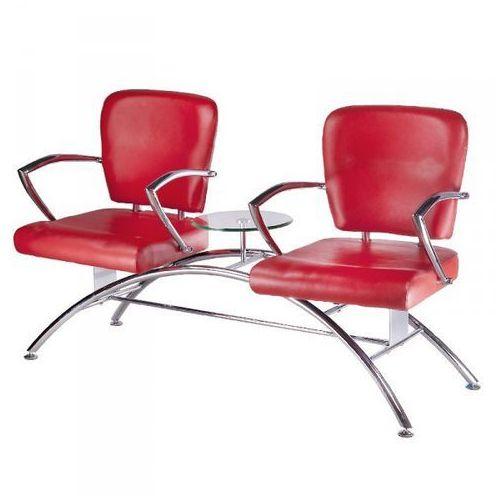 Krzesła Do Poczekalni Ze Stolikiem Livio Czerwone