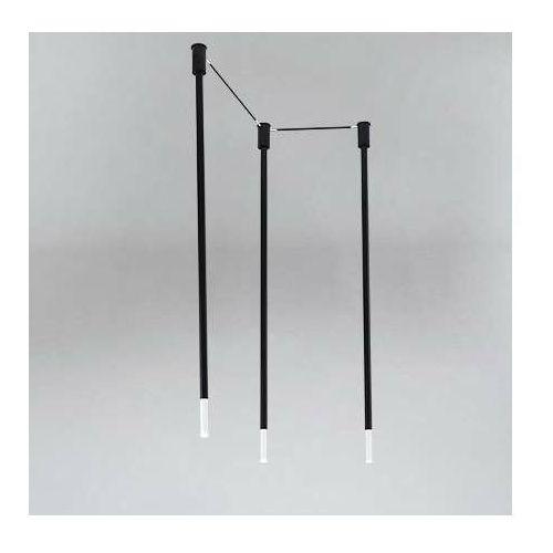 Shilo Sufitowa lampa nowoczesna alha n 9388 tuby metalowe sople czarne