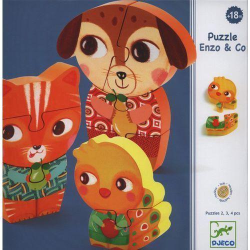 Djeco Puzzle drewniane pionowe enzo (3070900012622)