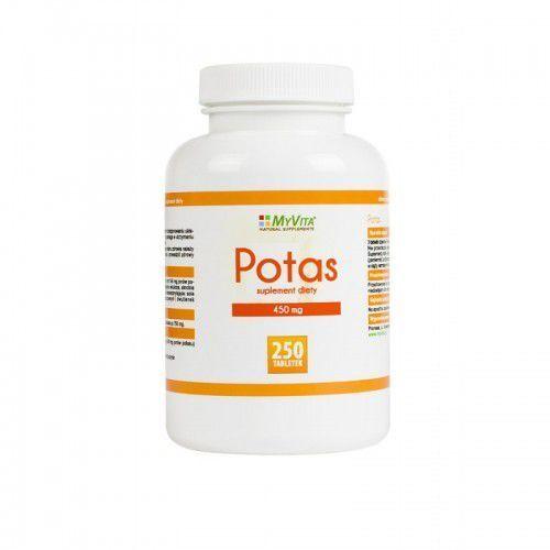Potas cytrynian potasu 450mg 250 tabletek MyVita (5906395684564)