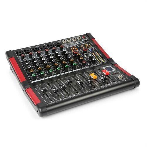 Power dynamics pdm-m604 mikser muzyczny 6 wejść mikrofonowych 24-bitowy procesor multi fx