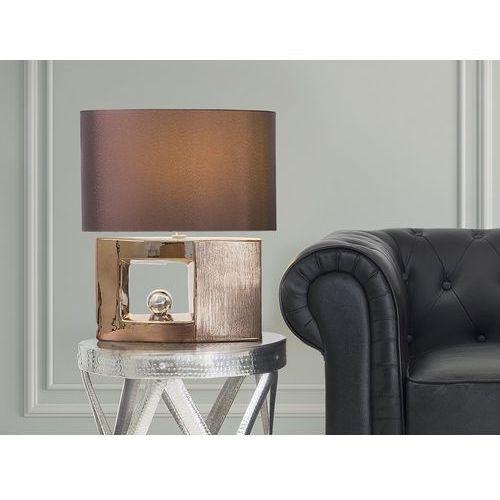 Nowoczesna lampka nocna - lampa stojąca w kolorze brązowym - DUERO