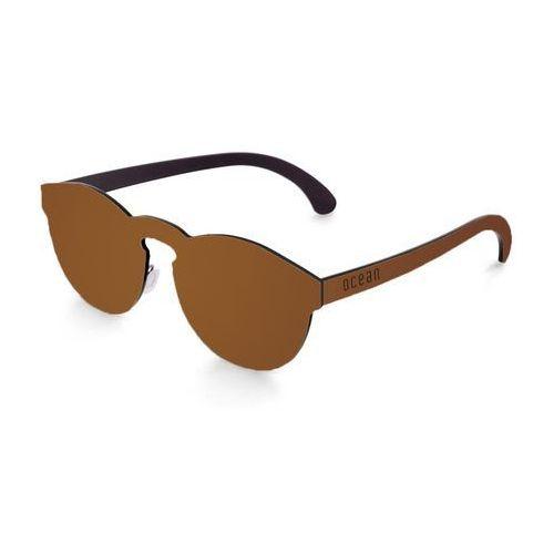 Okulary Przeciwsłoneczne Unisex Ocean Sunglasses 22-3_LONGBEACH Brązowe, kolor brązowy