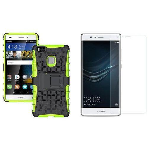 Zestaw | Perfect Armor Zielony | Pancerna obudowa + szkło ochronne Perfect Glass dla Huawei P9 Plus
