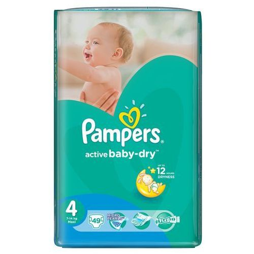 Pampers Pieluchy Active Baby Dry 4 Maxi (49 szt.)