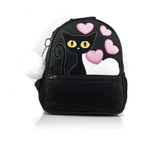 Shellbag plecak Czarny Kot 28 cm, kolor czarny