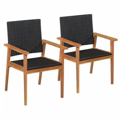Zestaw krzeseł ogrodowych Regia - czarno-brązowy, vidaxl_44079