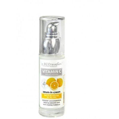 Vitamin c - kremowe serum do twarzy anti-age 30 ml marki Stara mydlarnia