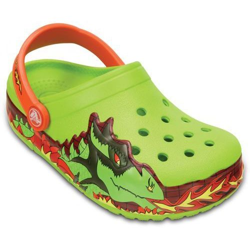 Crocs buty CrocsLights Fire Dragon Clog K Volt Green 23-24 (C7)