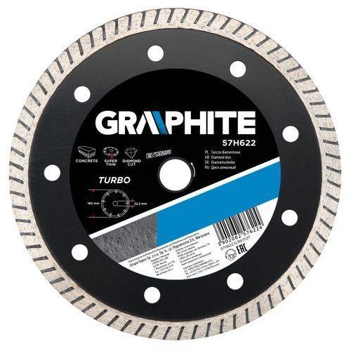 Tarcza do cięcia 57h620 115 x 22.2 mm diamentowa turbo cienka marki Graphite