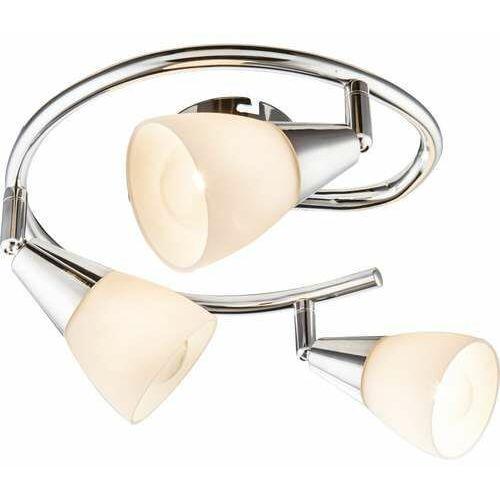 Plafon oprawa lampa sufitowa tadeus 3x40w e14 chrom, biała 54919-3 marki Globo