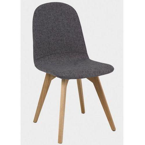 Krzesło Ares tapicerowane szarą tkaniną, kolor szary