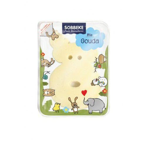 Ser gouda plastry dla dzieci 50% tłuszczu bio 120 g -  marki Sobbeke