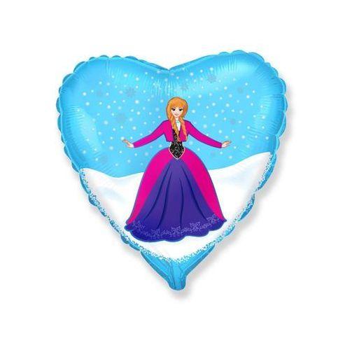 "Flexmetal balloons Balon foliowy 18 cali serce ""anna z krainy lodu"""