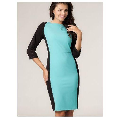 Sukienka sukienka model arleta 8 turkus/black, Tessita
