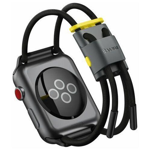 Baseus pasek opaska bransoleta do Apple Watch 42 mm / 44 mm czarny (LBAPWA4-BGY) - Czarny, kolor czarny