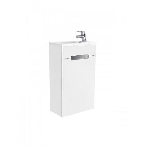 New trendy micra zestaw szafka z umywalką 40cm biały połysk prawy ml-mi040p