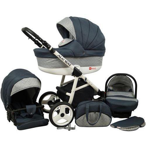 wózek wielofunkcyjny alu way 3w1, dark grey marki Sun baby