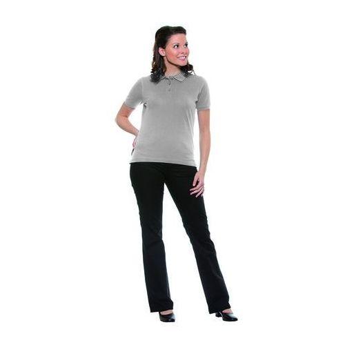 Koszulka damska typu polo, rozmiar XXL, jasnoszara | KARLOWSKY, Basic