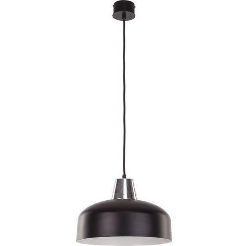 Lampa wisząca wawa s czarna srebrna metalowa marki Sigma