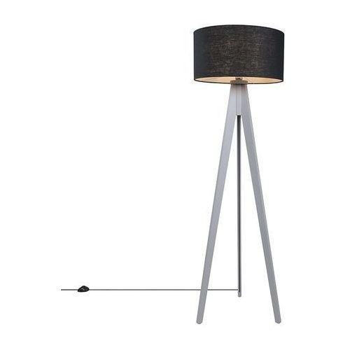 Lampa podlogowa Tripod Classic szara z kloszem 50cm czarna