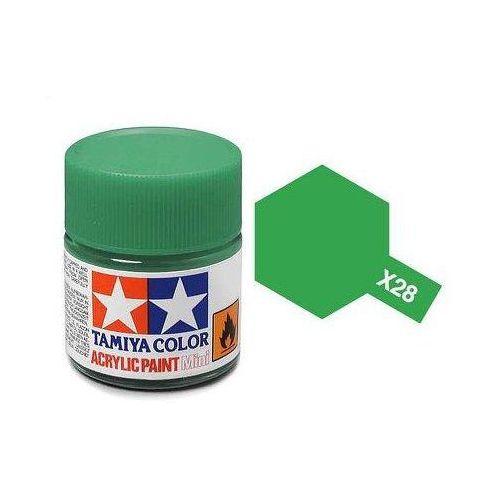 Farba akrylowa - X28 Park Green gloss / 10ml Tamiya 81528 (45035470)