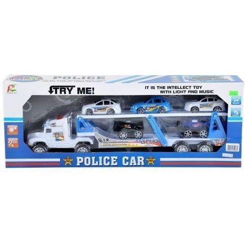 Auto policyjne laweta z samochodami