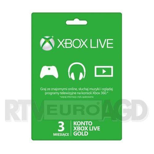 Subskrypcja xbox live gold (3 m-ce karta zdrapka) - produkt w magazynie - szybka wysyłka!, marki Microsoft