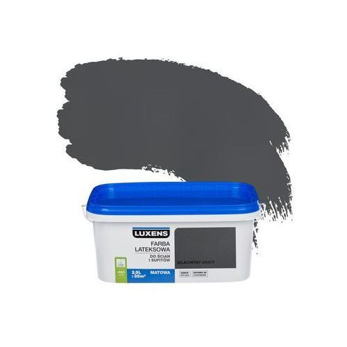 Luxens Farba wewnętrzna do ścian i sufitów emulsja 2.5 l szlachetny grafit