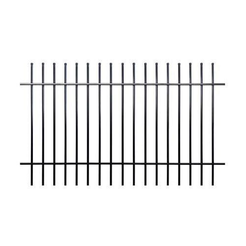 Przęsło ogrodzeniowe milos 200 x 120 cm czarne marki Polbram
