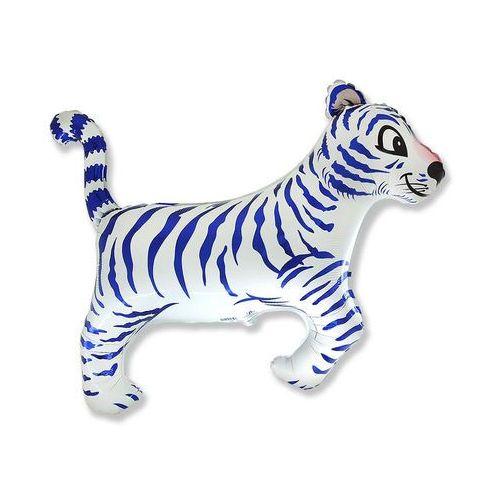 Flx Balon foliowy tygrys biały - 61 cm - 1 szt. (5902973113051)