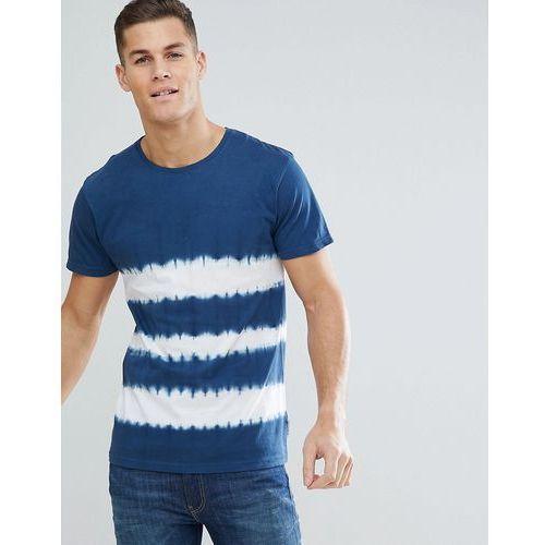 Bellfield T-Shirt With Tie Dye Stripe In Blue - Navy, w 4 rozmiarach
