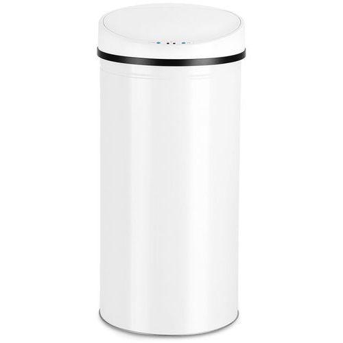 Automatyczny kosz na śmieci biały nierdzewny 56l - biały marki Wideshop