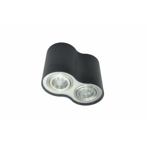 Zuma line Lampa sufitowa rondoo sl 2 podwójna czarna, 50407-bk