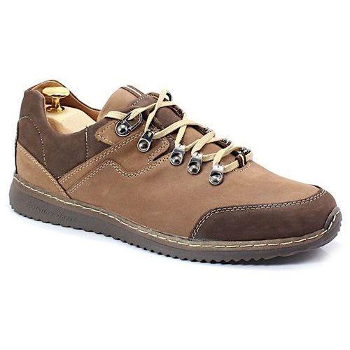 515 brąz polskie buty trekkingowe,skóra - brązowy marki Kent