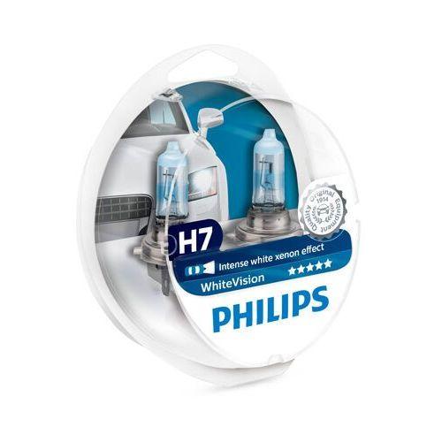 Philips whitevision h7 12972whvsm żarówka samochodowa z efektem światła ksenonowego, zestaw podwójny
