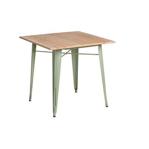 Stół Paris Wood zielony sosna naturalna