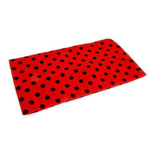 CZERWONA OPASKA W CZARNE KROPKI kolor czerwony opaski styl sportowy pin up girl