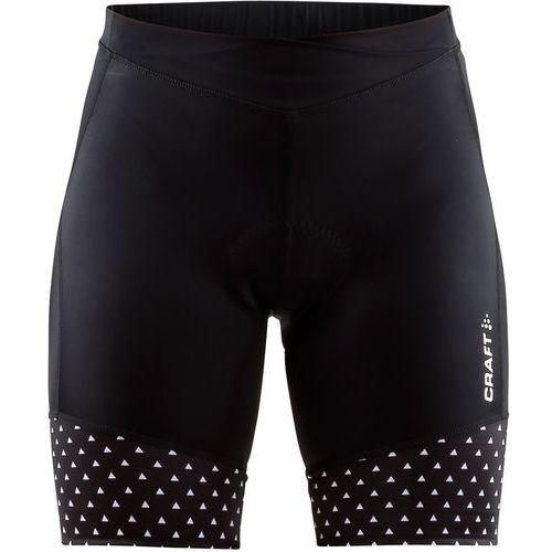 Craft spodenki rowerowe damskie velo shorts, czarny z wzorem m (7318572826427)