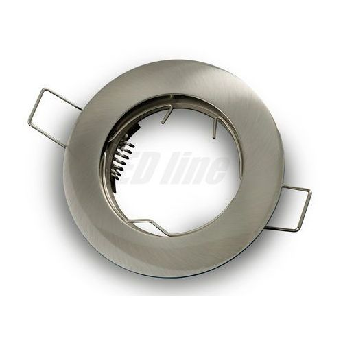 Led line Oprawa halogenowa sufitowa okrągła stała, odlew stopu aluminium - satyna