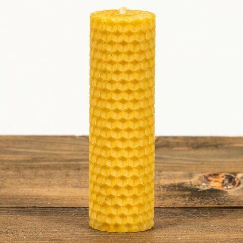 Świeca zwijana z węzy pszczelej walec W-052 (105 mm / 30 mm) Łysoń