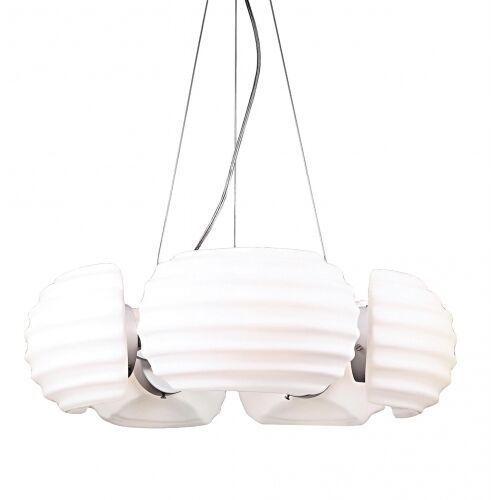 Azzardo rondo az0115 dh 6081-5 lampa wisząca zwis oprawa 5x40w e14 biała/chrom