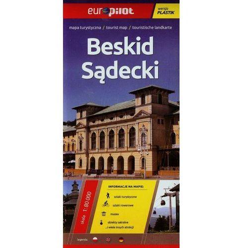 Mapa turystyczna laminowana. Beskid Sądecki. Skala 1 : 80 000. Europilot